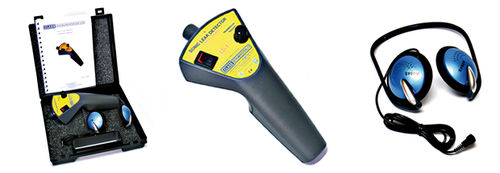 Gasleckdetektor / akustisch / tragbar / kompakt