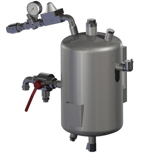 Wasserbehälter / Metall / unter Druck / vertikal