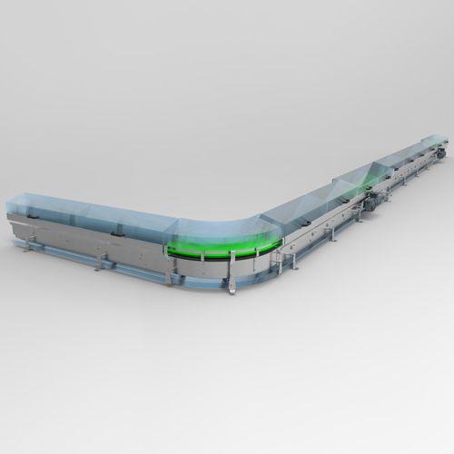 Kettenförderer / Magnetband / für die Lebensmittelindustrie / für die Pharmaindustrie