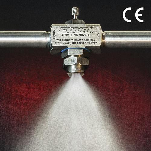 Zerstäubungsdüse / für Flüssigkeiten / Druckluft / Flachstrahl