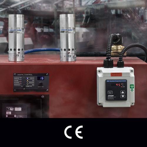 Druckluftkühler / für Schaltschrank / kompakt / Edelstahl
