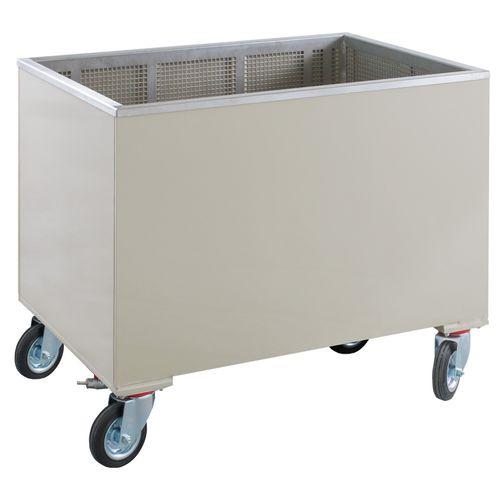 Polypropylenkiste / Lager / zur Abwasserbehandlung / auf Rollen