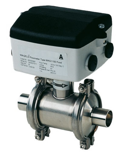 elektromagnetischer Durchflussmesser / für Flüssigkeiten / Inline / für die Lebensmittelindustrie
