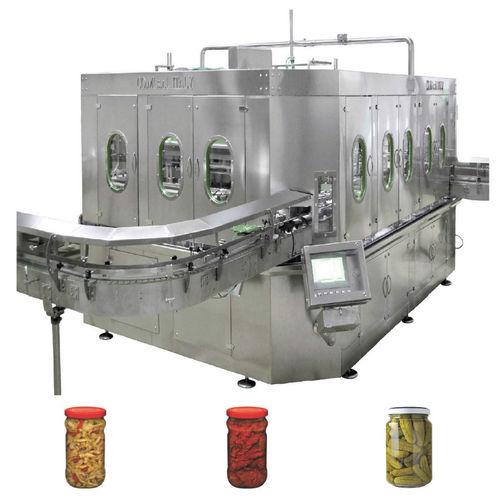 Abfüllmaschine für Lebensmittel / für Gläser / Konservendosen / Becher