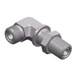 Schottanschluss / Gewinde / 90°-Winkel / hydraulisch