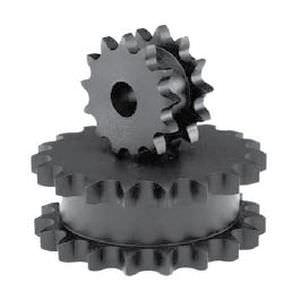 Kettenrad / gerade verzahnt / für Ketten / doppelt / Ketten