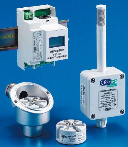 Temperaturmessumformer / am Sondenkopf / Pt100 / 4-20 mA / mit Digitalanzeige