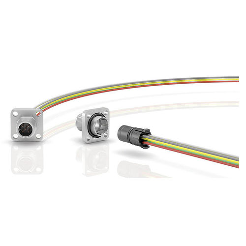 Stromversorgungs-Steckverbinder / quadratisch / Rund / außen