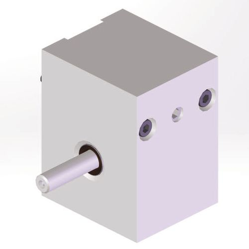 Schneckengetriebe / gewinkelt / einstufig / Aluminium