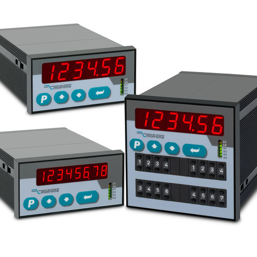 Positionsanzeiger / mit LED-Display / Summenzähler / RS-232