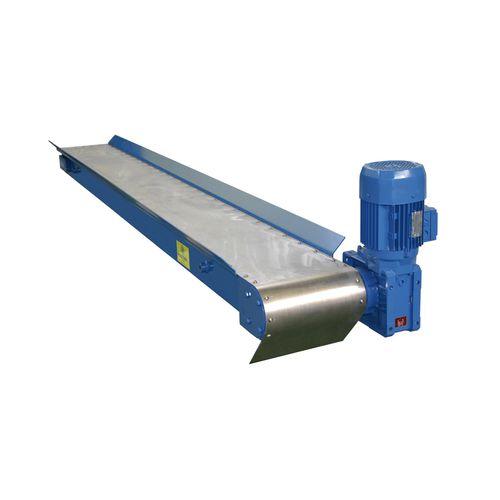 Magnetbandförderer / für Späne / horizontal / automatisch