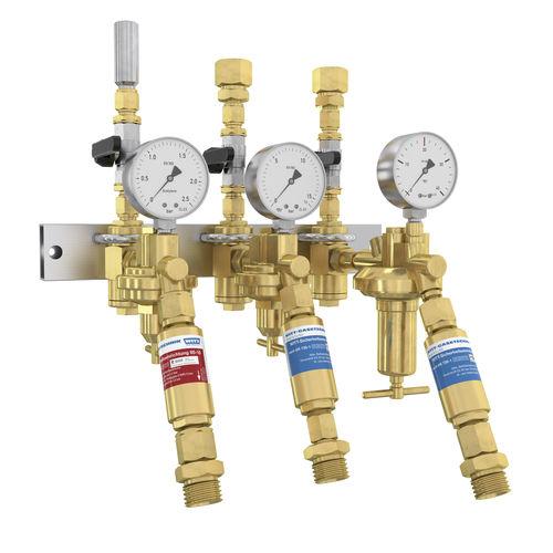 Mehrweg-Verteilerblock / Messing / für Gas