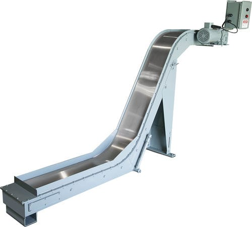Magnetbandförderer / für Späne / horizontal