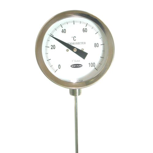 Bimetall-Thermometer / analog / Eintauchfühler / Edelstahl