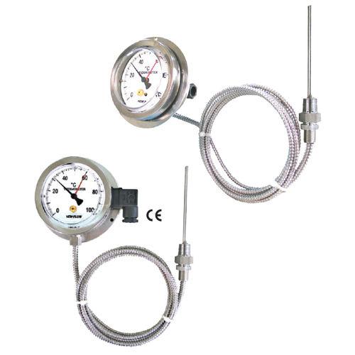 Flüssigkeitsausdehnungsthermometer / analog / Eintauchfühler / Edelstahl