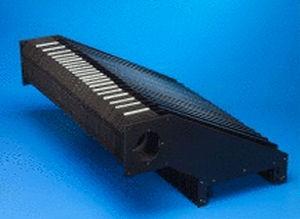 polygonaler Schutzbalg / beschichtetes Gewebe / Falten / für Maschinen