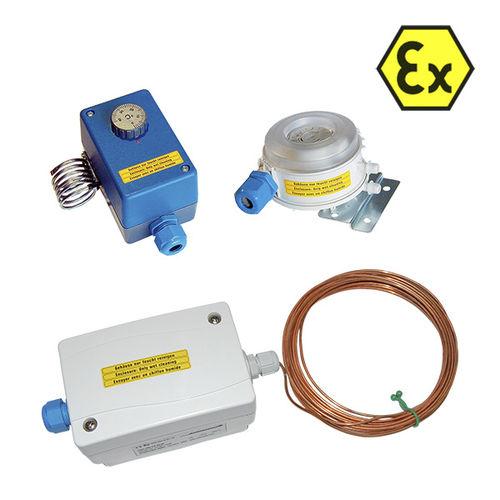 Differenzdrucksensor / mit Temperatursensor / ATEX / passiv