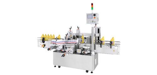 automatische Etikettiermaschine / 2 Etiketten / linear / für Seitenauftrag