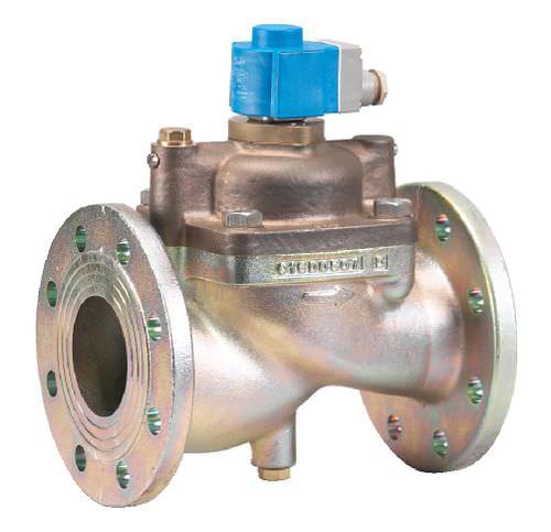 vorgesteuertes Magnetventil / 2/2-Wege / NC / Wasser