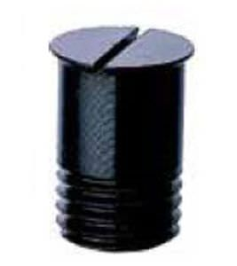 zylinderförmiger Stopfen / Gewinde / Kunststoff / Sicherheit