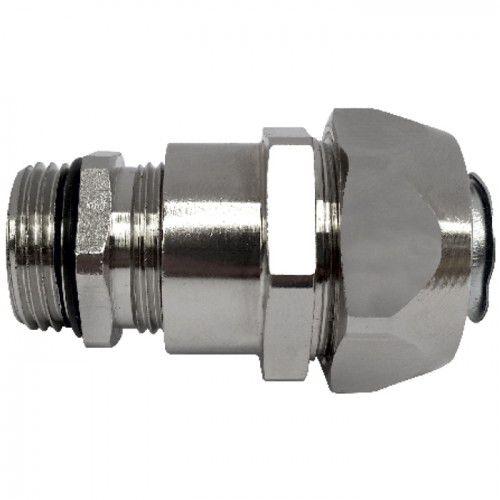 Gewindeanschluss / gerade / hydraulisch / aus vernickeltem Messing