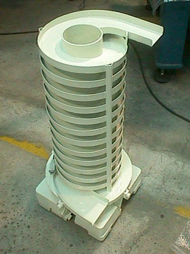 Magnetbandförderer / Vibration / Edelstahl / vertikal