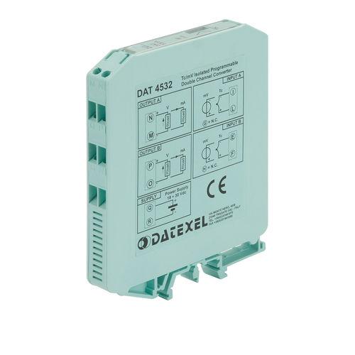 Analog-Wandler / Spannung / Strom / 2 Analogausgänge / für Thermoelement