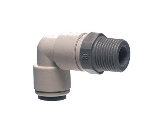 Schraubanschluss / 90°-Winkel / pneumatisch / Kunststoff