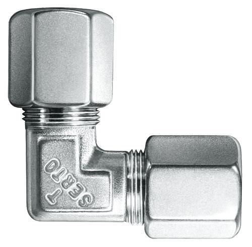 Schraub-Verschraubung / Schneidring / Winkel / pneumatisch