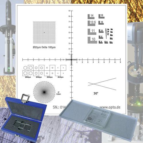 Kalibrator zur Messung an Mikronenskala - OPTO
