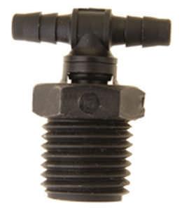 Schraubanschluss / geriffelt / T / hydraulisch