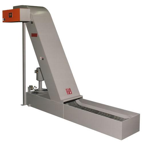 Magnetbandförderer / für Späne / für Teile / horizontal