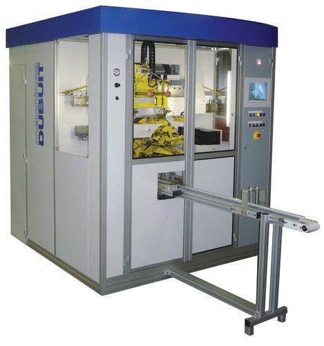 automatische Siebdruckmaschine / 2-Farben / für Kunststoffflaschen / flach