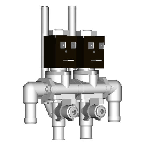 Wasser-Magnetventilblock