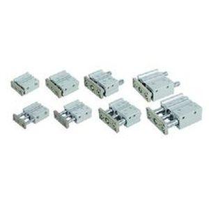 pneumatischer Zylinder / Doppel / kompakt / Führung