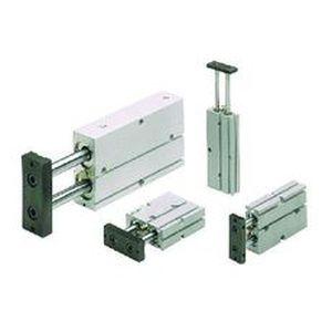 pneumatischer Zylinder / Doppel / Doppelkolben / flach