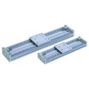 pneumatischer Zylinder / kolbenstangenlos / mit regelbarem Hub / hydraulische Stoßdämpfer