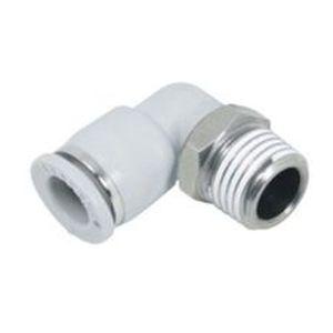 Gewindeanschluss / Push-in / 90°-Winkel / pneumatisch