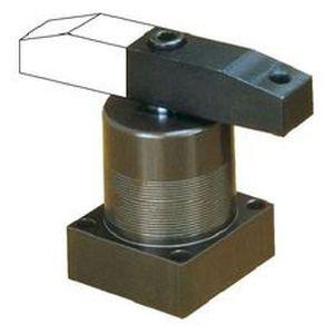 pneumatischer Zylinder / Drehklammer / mit Sockel / Befestigung