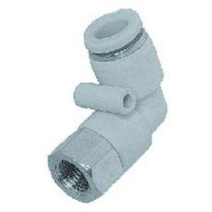 Push-in-Anschluss / 90°-Winkel / pneumatisch / innen