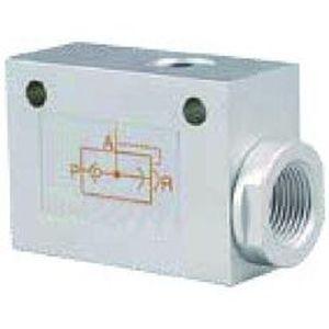pneumatisch gesteuertes Ventil / für Luft / gerade / unidirektional