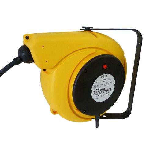Aufwickler für Elektrokabel / einziehbar / wandmontiert / Kunststoff
