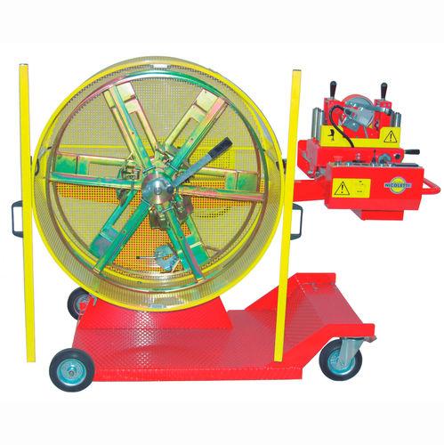 Kabelwickler / mobil / mit Messmaschine / motorisiert