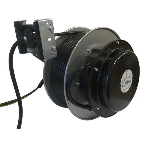 Aufwickler für Elektrokabel / einziehbar / mit offener Trommel / Aluminium