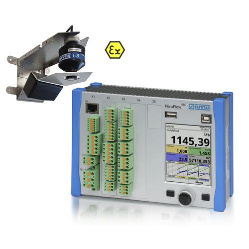 Radar-Durchflussmesser / für Wasser / Abwasser / für offene Kanäle