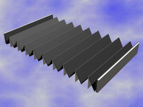 Flach-Schutzbalg / PVC / Falten / für Linearführung