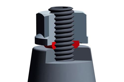 sechseckige Mutter / Stahl / hydraulisch / selbstdichtend