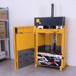 vertikale Ballenpresse / Frontlader / für Textilien / für Kleidungsstücke