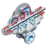 Pumpe für Gas / Wasser / Öl / hydraulisch gesteuert