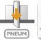 Linearbremse für Wellen / pneumatisch lösbar / Federdruck / Sicherheit